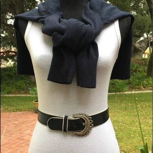 Escada Navy Leather Belt